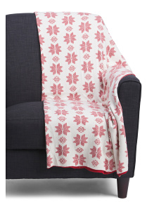 Made In India Snowflake Winter Throw