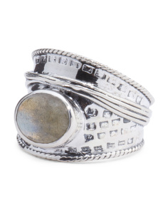 Made In India Sterling Silver Gemstone Ring
