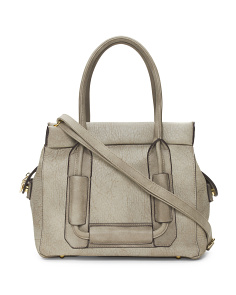 Large Distressed Nappa Satchel