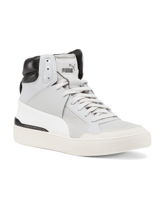 McQueen Leather High Top Sneakers