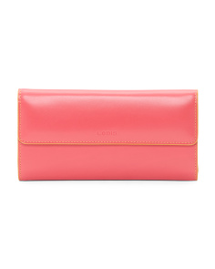 Leather Audrey Checkbook Clutch