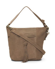 Carmen Suede Bucket Bag