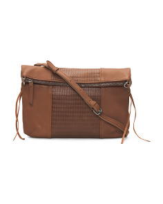 Noah Foldover Leather Crossbody