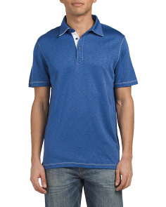 Polo Shirt With Contrast Stitch