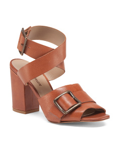 Made In Spain Leather Heel Sandals