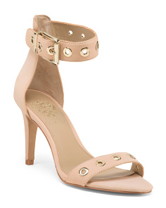 Leather Grommet Dress Sandals