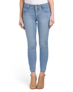 Juniors Stacked Waist Ankle Skinny Jeans
