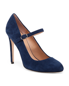 Mary Jane Suede Pumps