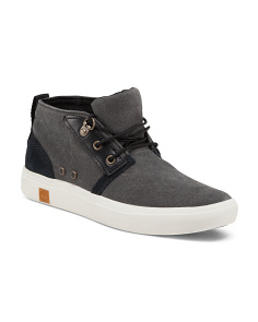 Casual Leather Canvas Sneakers