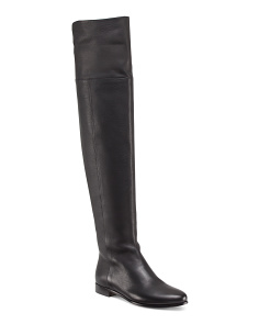 Made In Italy Over The Knee Leather Boots
