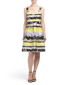 Palm Stripe Carrot Dress