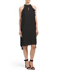 Cascading Georgette Dress