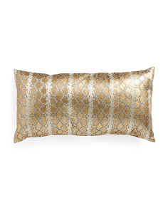 Made In USA 14x26 Anaconda Gold Metallic Pillow