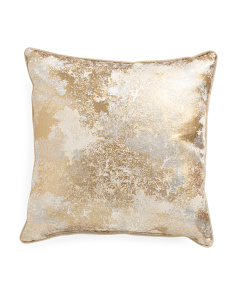 Made In USA 22x22 Gold Metallic Illusion Pillow