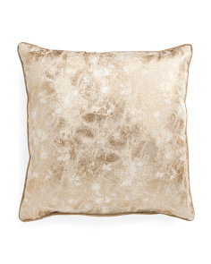 Made In USA 22x22 Marble Electric Metallic Pillow