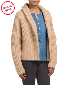 Wool Blend Cropped Cardigan