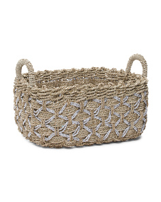 Large Metallic Seagrass Basket
