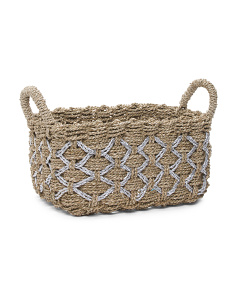 Medium Metallic Seagrass Basket