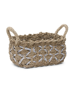 Small Metallic Seagrass Basket