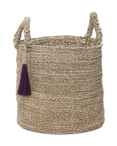 Medium Seagrass Basket With Tassel
