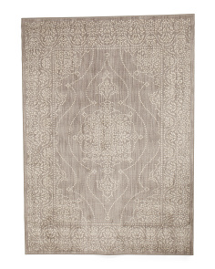 Made In The USA Damask Pattern Area Rug