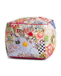 Made In India Floral 3D Pouf