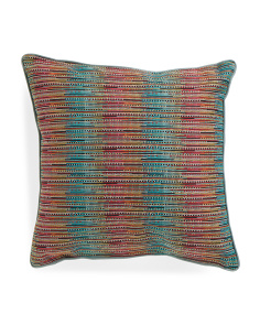 Made In USA 22x22 Contemporary Woven Pillow