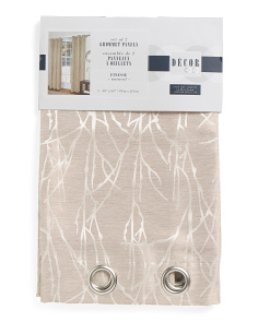 38x84 Finesse Linen Look Jacquard Curtains