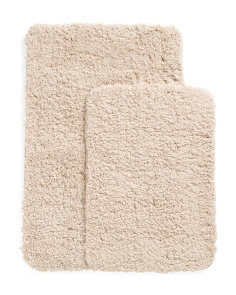 Plush Microfiber Set Of 2 Bath Rugs