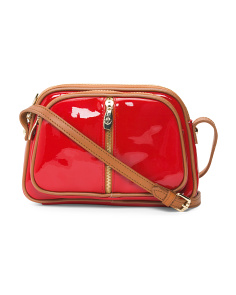 Made In Italy Small Patent Leather Crossbody