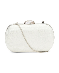 Lace Rhinestone Clutch