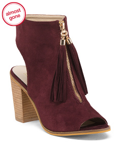 Tassel Block Heel Booties