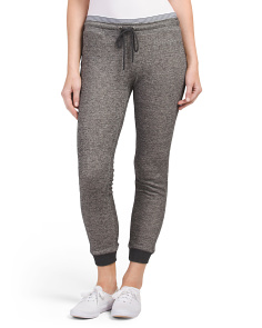 Juniors Marled French Terry Joggers