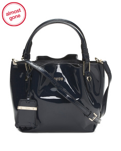 Made In Italy Patent Leather Bucket Bag