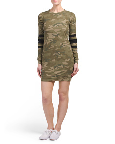 Juniors Camo Athleisure Sweatshirt Dress