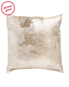 22x22 Silver Metallic Pillow
