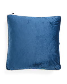 20x20 Velvet Feather Filled Pillow