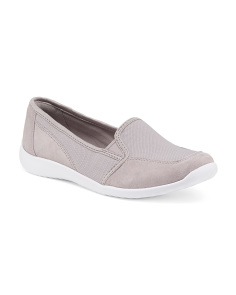 Charron Artic Canvas Suede Flats