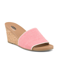 One Band Cork Wedges