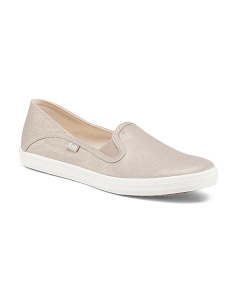 Metallic Canvas Slip On Sneakers