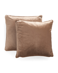 20x20 Velvet 2pk Feather Filled Pillows