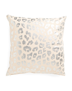 Made In India 20x20 Metallic Foil Pillow