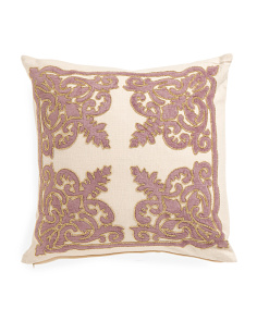22x22 Velvet Applique Pillow