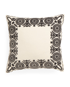 Made In India 18x18 Embroidered Border Pillow