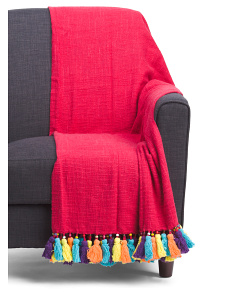 Made In India Zaire Fringe Throw