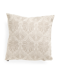 20x20 Linen Look Embroidered Pillow