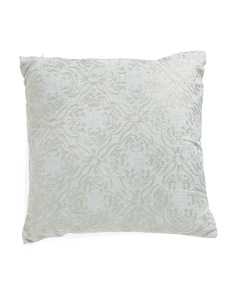 20x20 Embroidered Linen Look Pillow