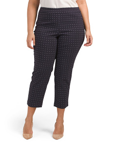Plus Diamond Print Super Stretch Pants
