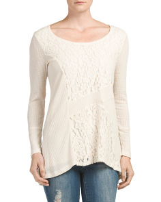 Lace Inset Thermal Top