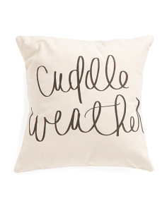18x18 Cuddle Weather Pillow